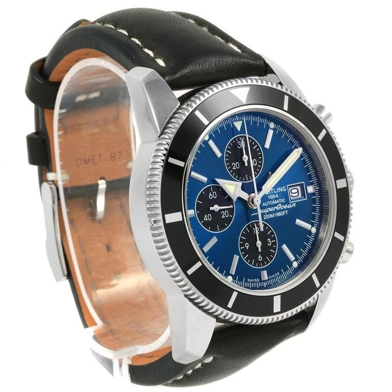 Men's Breitling SuperOcean Heritage Chrono 46 Watch A13320 Box Papers For Sale