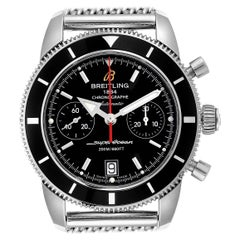 Breitling SuperOcean Heritage Chrono Black Dial Watch A23370 Box Papers