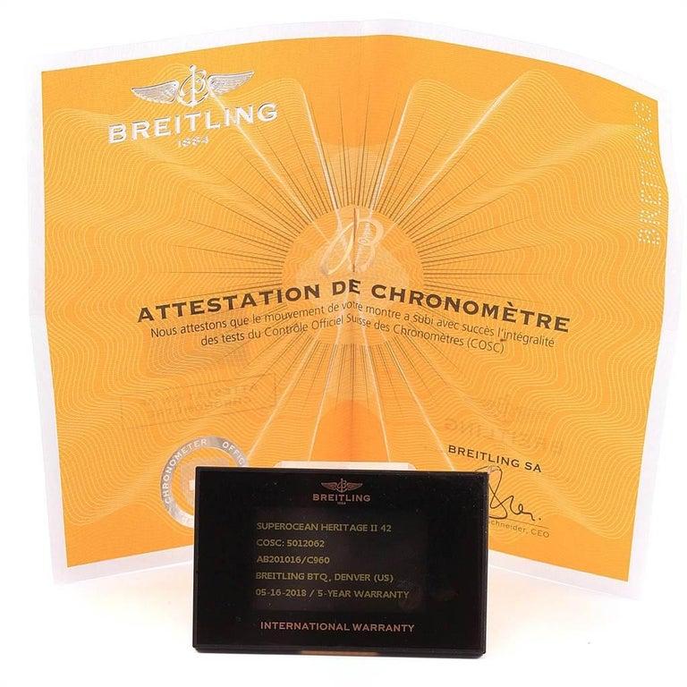 Breitling Superocean Heritage II 42 Steel Men's Watch AB2010 Box Papers For Sale 7