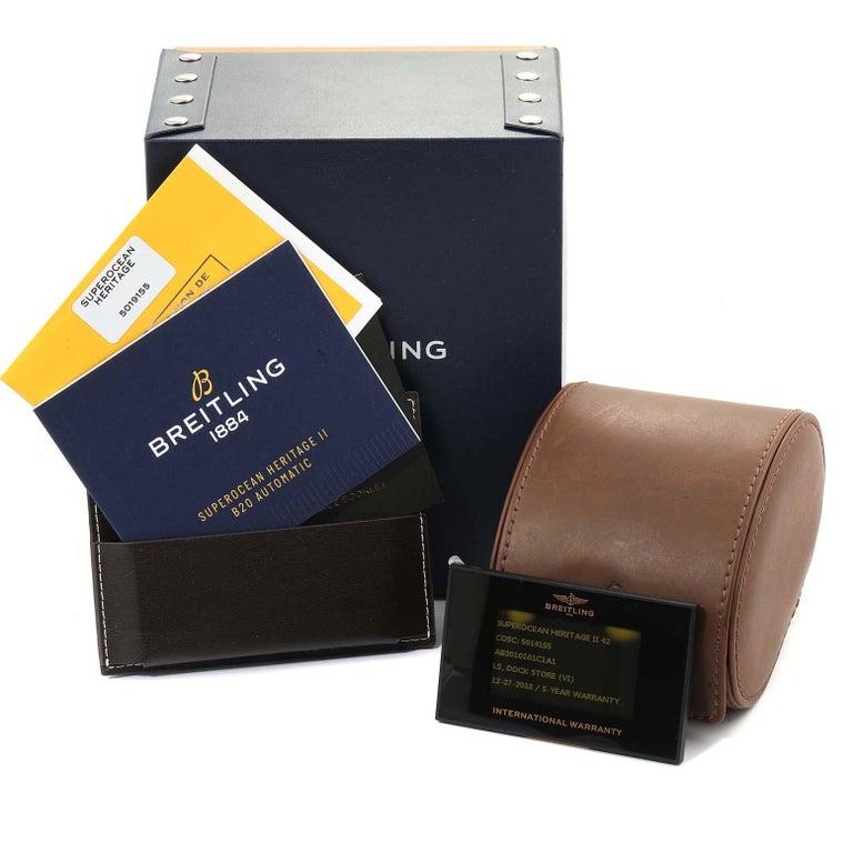 Breitling Superocean Heritage II 42 Steel Men's Watch Ab2010 Box Papers For Sale 8