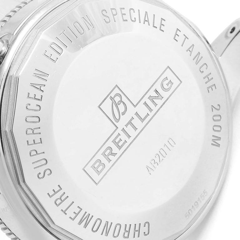 Breitling Superocean Heritage II 42 Steel Men's Watch Ab2010 Box Papers For Sale 3