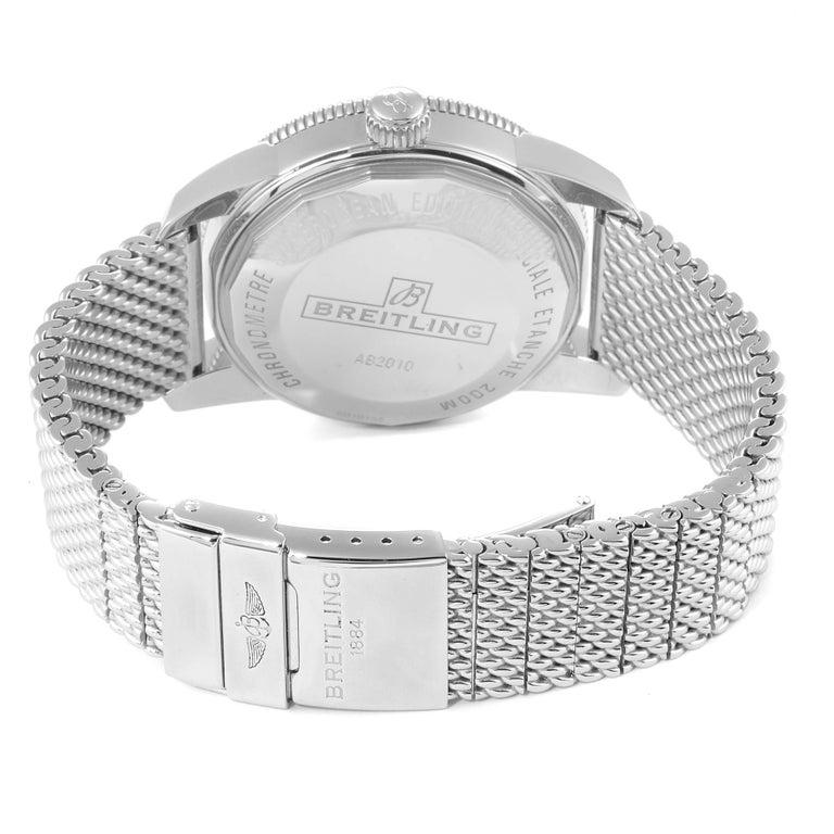 Breitling Superocean Heritage II 42 Steel Men's Watch Ab2010 Box Papers For Sale 5