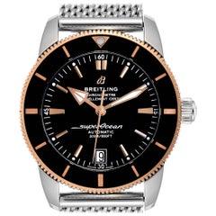 Breitling Superocean Heritage II 42 Steel Rose Gold Watch UB2010 Box Papers