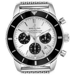 Breitling SuperOcean Heritage II B01 Silver Dial Steel Men's Watch AB0162