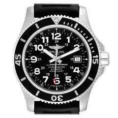 Breitling Superocean II 44 Black Dial Rubber Strap Men's Watch A17392