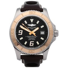 Breitling Superocean II 44 C17391 Men's Stainless Steel and Rose Gold Watch