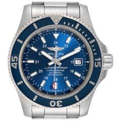 Breitling Superocean II 44 Gun Blue Dial Men's Watch A17392 Box Card