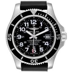 Breitling Superocean II Black Dial Steel Men's Watch A17365 Box Card