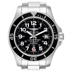 Breitling Superocean II Black Dial Steel Men's Watch A17365 Box Papers