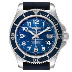 Breitling Superocean II Blue Dial Steel Men's Watch A17365 Box Papers