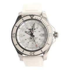Breitling SuperOcean II Chronometer Automatic Watch Stainless Steel and Rubber