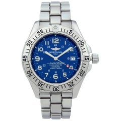 Breitling Superocean Stainless Steel Blue Arabic Dial Automatic Men Watch A17360