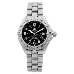 Breitling Superocean Steel Black Dial Date Automatic Men's Watch A17345