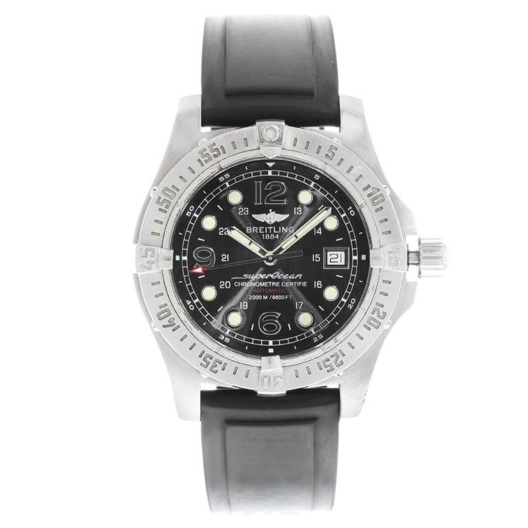 Breitling Superocean Steelfish A17390 Black Dial Steel Automatic Men's Watch