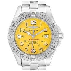 Breitling Superocean Steelfish Yellow Dial Steel Men's Watch A17360
