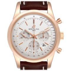 Breitling Transocean 18k Rose Gold Men's Watch RB0152 Unworn