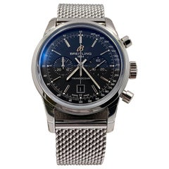 Breitling Transocean 38 A41310 Black Dial Stainless Steel Box Booklets