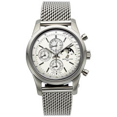 Breitling Transocean A19310, Silver Dial, Certified and Warranty