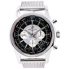 Breitling Transocean AB0510, Gold Dial, Certified and Warranty
