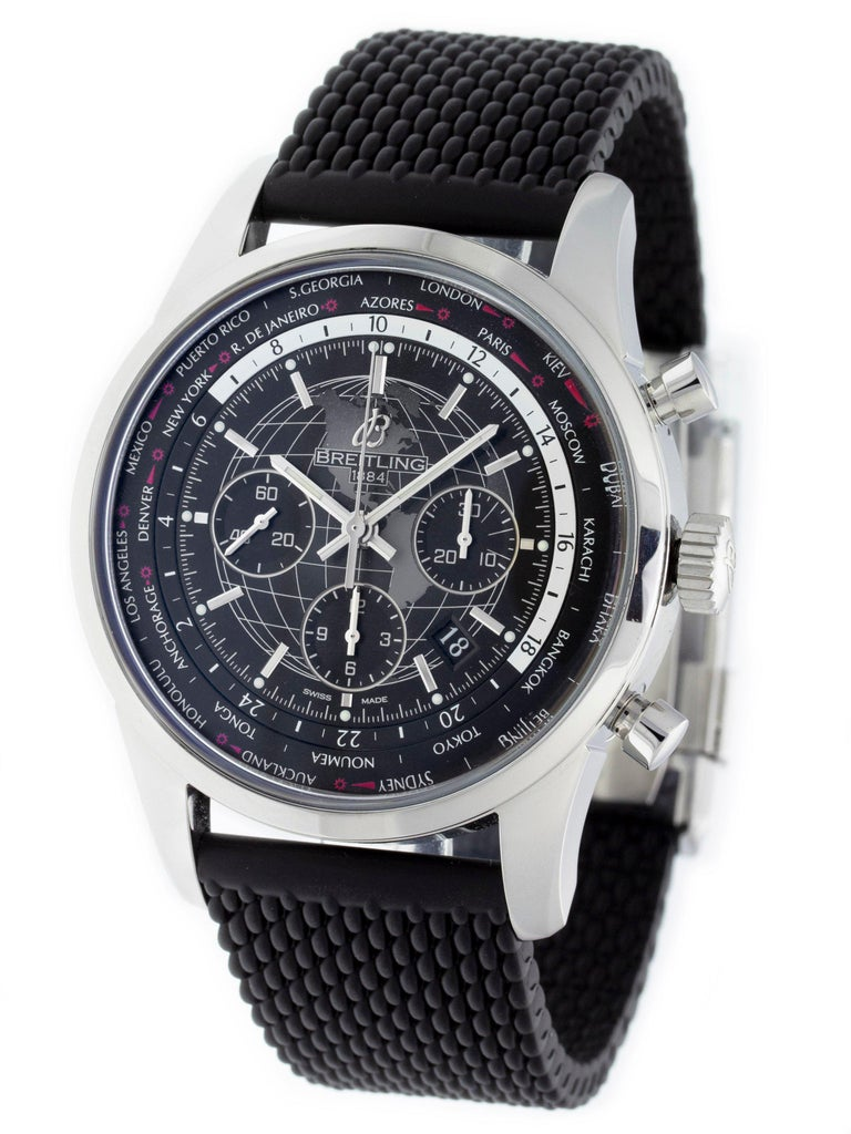 8cef5f4fbd4 Breitling Transocean Chrono Unitime AB0510U4/BE84-256S For Sale. Stainless  steel ...