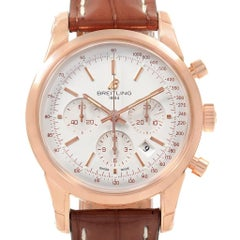 Breitling Transocean Chronograph 43 Rose Gold Männer Uhr RB0152 Unworn