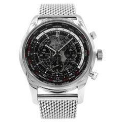 Breitling Transocean Chronograph Unitime Black Dial Watch AB0510U4/BE84-152A