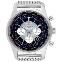 Breitling Transocean Chronograph Unitime Men's Watch AB0510 Box Papers