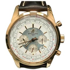 Breitling Transocean Chronograph Unitime RB0510 18 Karat Rose Gold