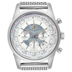 Breitling Transocean Chronograph Unitime Steel Men's Watch Watch AB0510