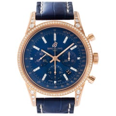 Breitling Transocean RB0152, Blue Dial, Certified and Warranty