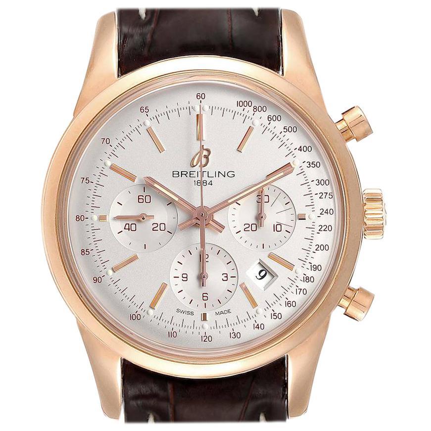 Breitling Transocean Rose Gold Men's Watch RB0152 Box
