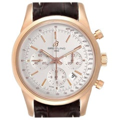 Breitling Transocean Rose Gold Men's Watch RB0152 Box
