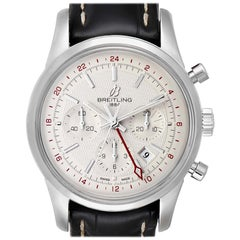 Breitling Transocean Silver Dial Steel Men's Watch AB0451 Box Papers