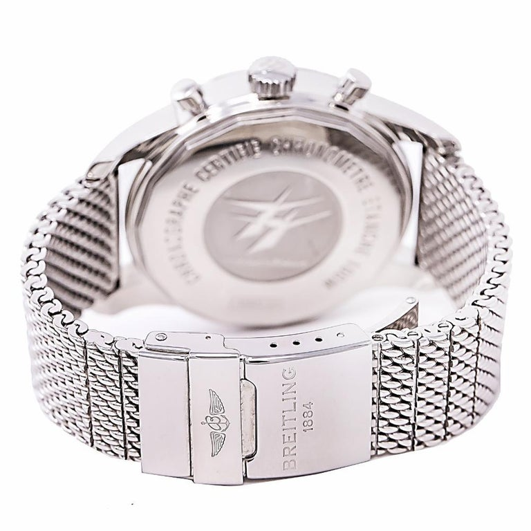 Contemporary Breitling Transocean 6234, Silver Dial Certified Authentic For Sale