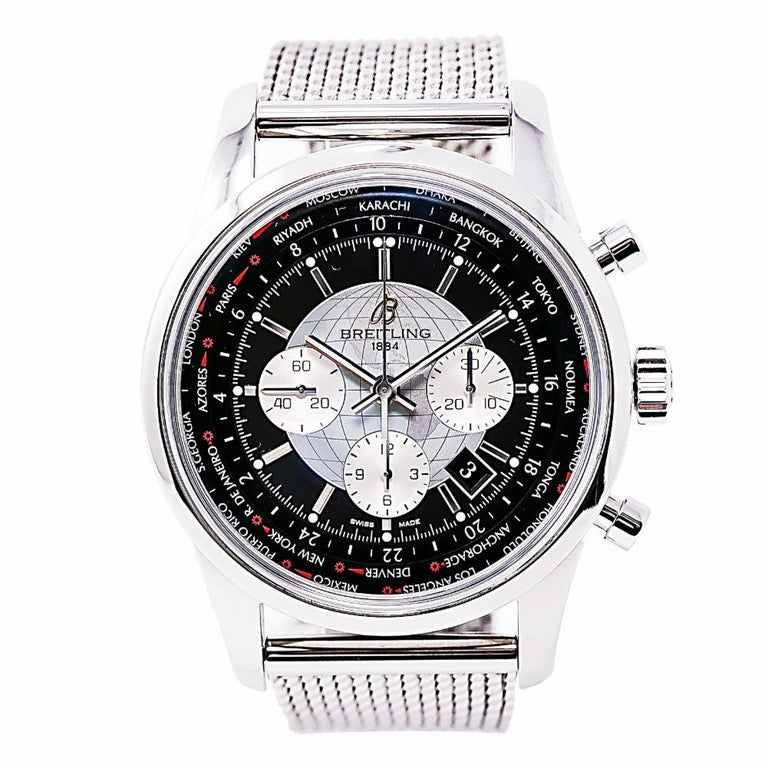 Breitling Transocean 6234, Silver Dial Certified Authentic For Sale