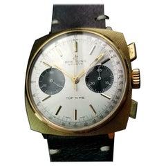 Breitling Vintage Chronograph Rare 1970 Top Time Panda Mens Original Watch LV444