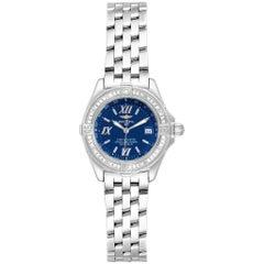 Breitling Windrider Cockpit Blue Dial Diamond Ladies Watch A67365