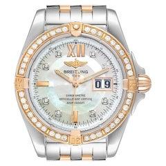 Breitling Windrider Cockpit Rose Gold Diamond Men's Watch C49350