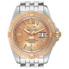 Breitling Windrider Cockpit Rose Gold Steel Men's Watch A49350 Box Papers