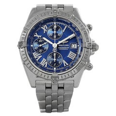 Breitling Windrider Crosswind Chronograph Automatic Blue Dial Watch A13355