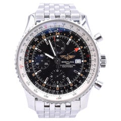 Breitling World Navitimer Stainless Steel Watch Ref. A24322