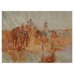 Breitner, George Hendrik '1857-1923', Troops Watering Horses, circa 1885