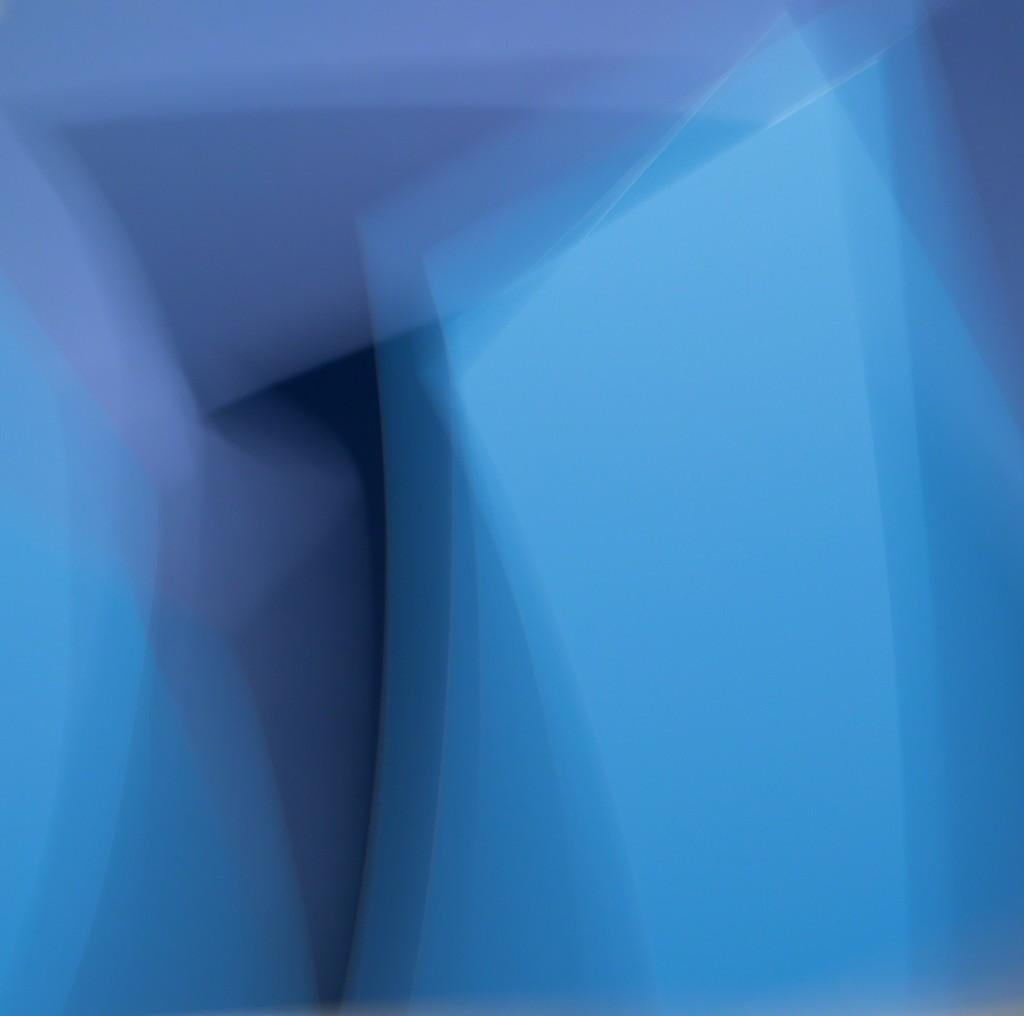 Moving Picture no. 25 - Dynamic blue abstract blur, sky landscape in motion