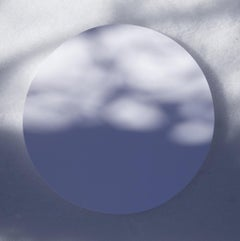 Shadow Legacy no. 11 - Abstract blue & gray shadows, snow circle landscape