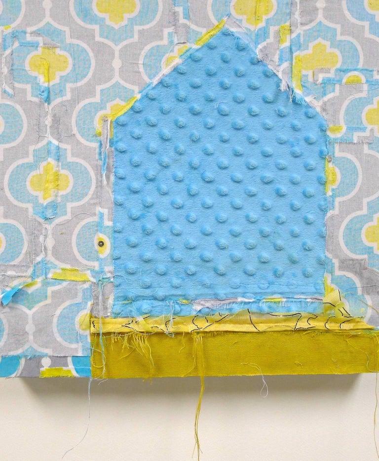 """Appearance"", Brenda Cirioni, mixed media, abstract, fabrics, home, blue - Mixed Media Art by Brenda Cirioni"