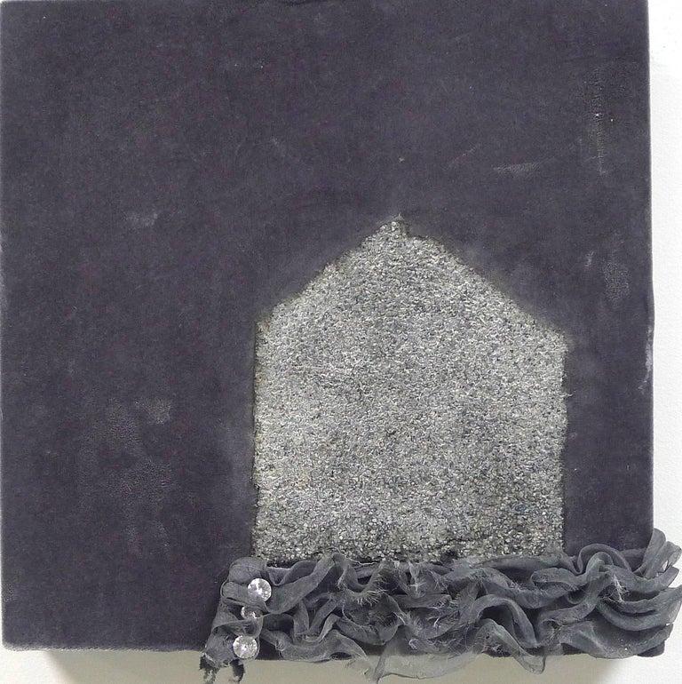 """Lake"", Brenda Cirioni, mixed media, fabric, landscape, grey, neutral palette - Mixed Media Art by Brenda Cirioni"