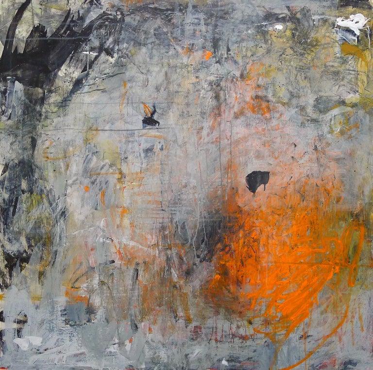 """Mazama 10"", Brenda Cirioni, acrylic, mixed media, abstract, orange, earth tones - Painting by Brenda Cirioni"