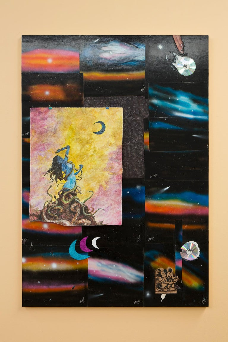 The One Who Invented Fire - Contemporary Mixed Media Art by Brendan Lynch