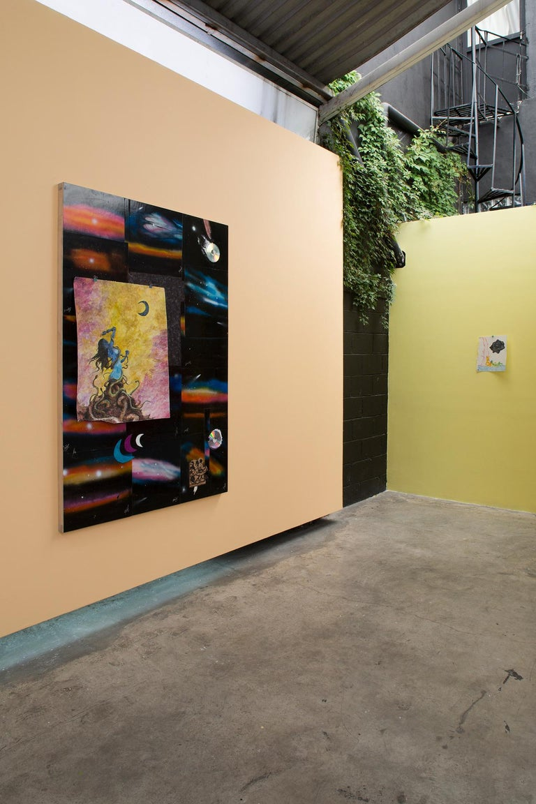 Mixed media, contemporary art, collage. The piece was created during Brendan's three months residency at Anonymous Gallery in Mexico City.  Visiting sites of interest, markets, tianguis and the streets of Mexico City, the artist has accumulated