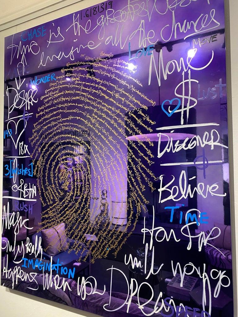 Painted Brendan Murphy Elements 2020 Fingerprint Series Contemporary Art Painting For Sale